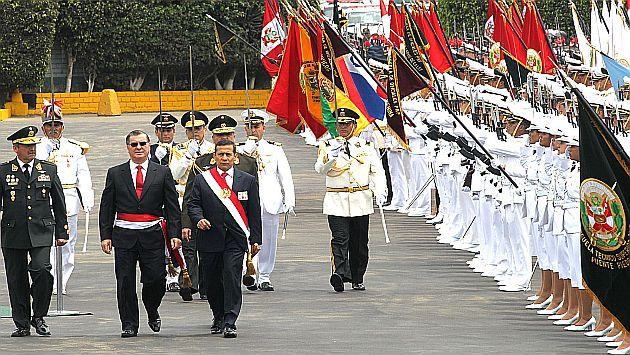 Humala en la ceremonia de aniversario de la Policía. (Andina)