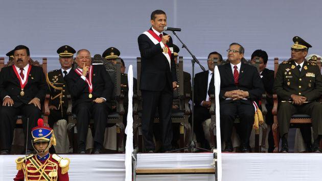En Ayacucho, el presidente Humala propuso revisar la doctrina de defensa nacional. (Andina)