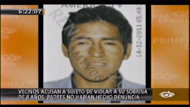 El sujeto es buscado por la Policía Nacional. (América TV)
