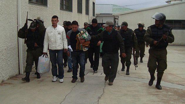 En la vista, dos de los peruanos que estuvieron presos y que fueron