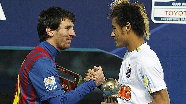 Neymar se llevó el tercer lugar entre los mejores jugadores, tras Messi y Xavi. (Reuters)