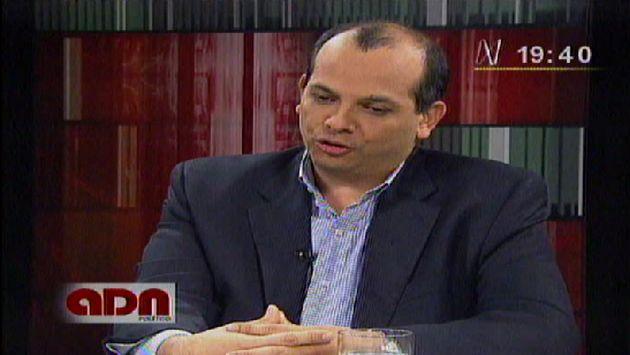 Castilla declaró en el programa Adn Político. (Canal N)