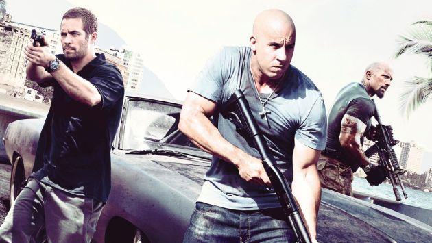 La cinta protagonizada por Paul Walker, Vin Diesel y 'La Roca' lidera el Top 10. (Internet)