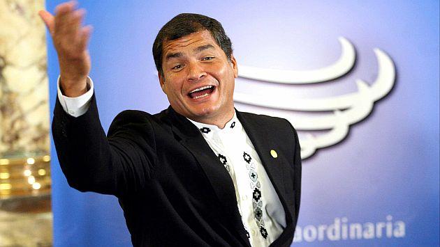 Correa comenzó su mandato en el 2007. (Perú21)