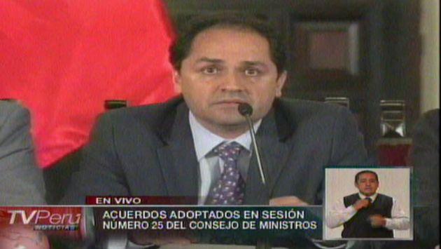 El ministro dio detalles del proyecto aprobado. (TV Perú)