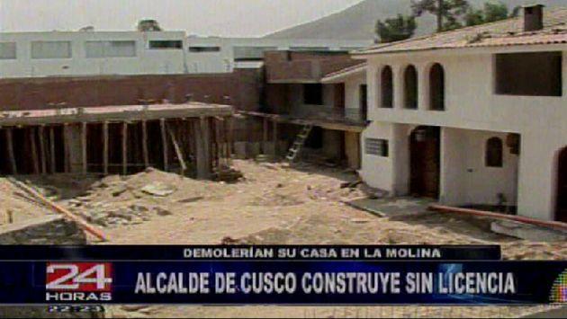La vivienda de Flórez García podría ser demolida si no se solucionan los problemas encontrados. (Canal 5)