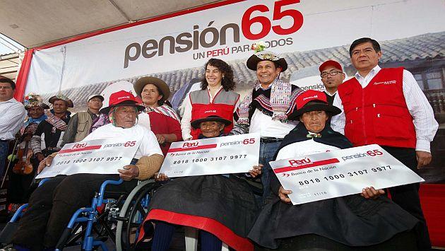 El presidente Humala cuando lanzó Pensión 65 en el distrito de Yauli. (USI)