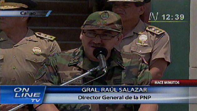 Salazar confirmó captura ante la prensa. (Canal N)