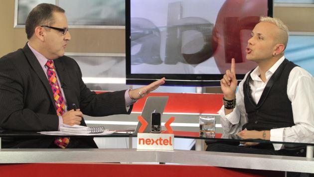 Cacho participó en una extensa entrevista con Beto Ortiz. (F. Latina)