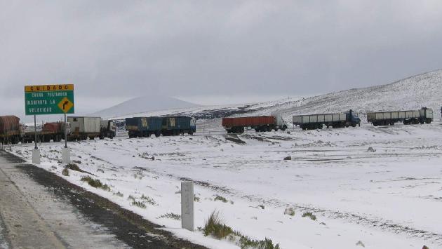 Peru: Nevadas afectan distritos y provincias en la Region Arequipa