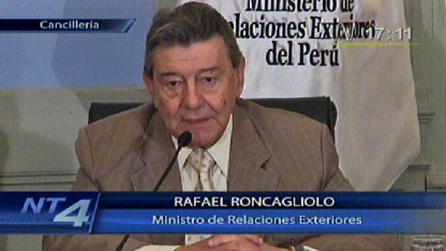 Roncagliolo anunció que Humala visitará Argentina. (Canal N)