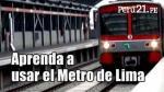 Cada tren tiene capacidad 1,200 personas. (Perú21)