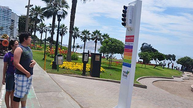 Los visitantes del Parque del Amor podrán saber si es recomendable exponerse al sol. (Difusión)