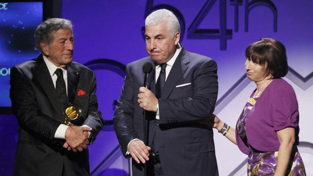 Los padres de Amy y Tony Bennett recibieron el galardón. (Reuters)