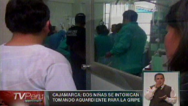 Las menores son atendidas en hospital de Essalud. (TV Perú)