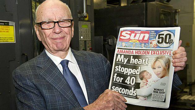 Rupert Murdoch presentó su nueva creación. (Reuters)