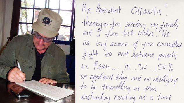 Le escribió la misiva de puño y letra. (Perú21)