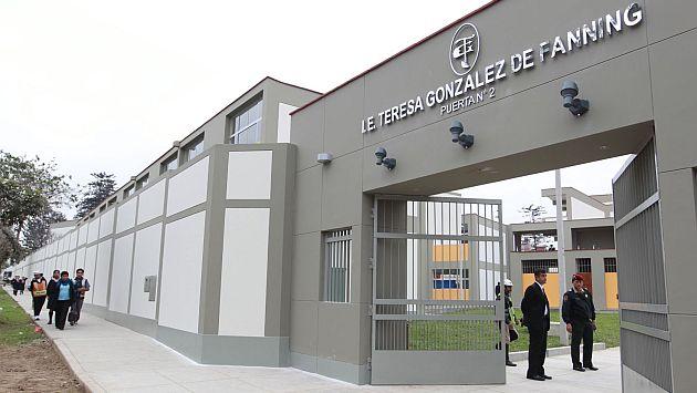 En el colegio Teresa Gonzales de Fanning también se encontraron irregularidades. (Andina)
