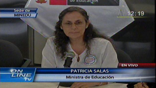 Salas ofreció una conferencia de prensa. (USI)