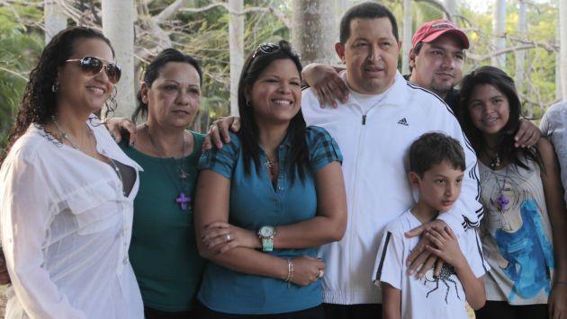 Chávez se reunió con su familia en La Habana. (AP)