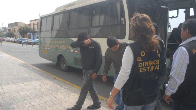 Los detenidos fueron trasladados a la Dirincri. (USI/Referencial)
