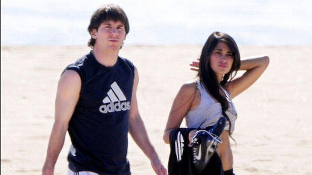 Lío y su novia Antonella. (Internet)