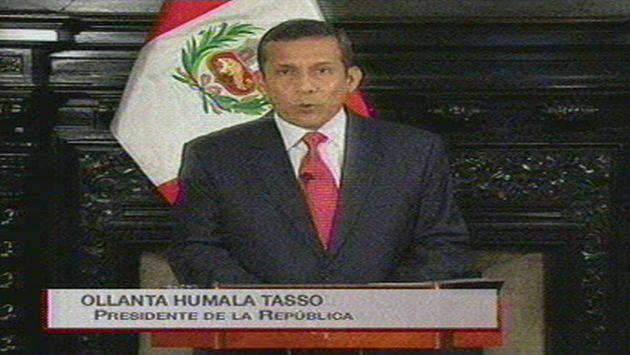 La televisión nacional difundió el mensaje. (TV Perú)