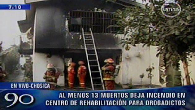 El fuego se habría originado en el primer piso. (Canal 2)
