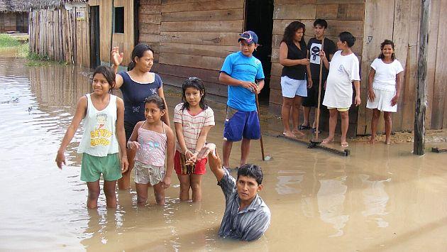 Lluvias torrenciales afectaron a gran parte de los pobladores. (USI/Referencial)