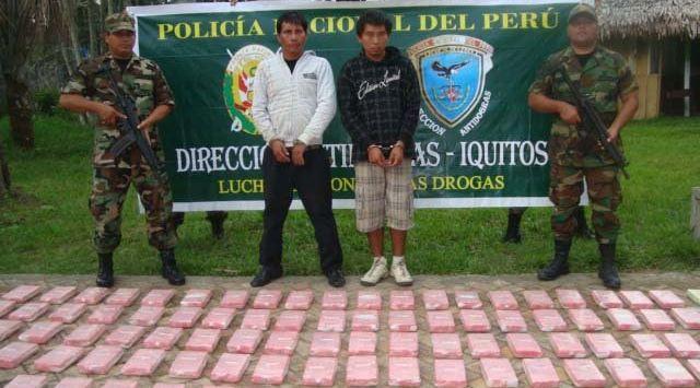 Detenidos tenían antecedentes por tráfico ilícito de drogas. (Dirandro Iquitos)
