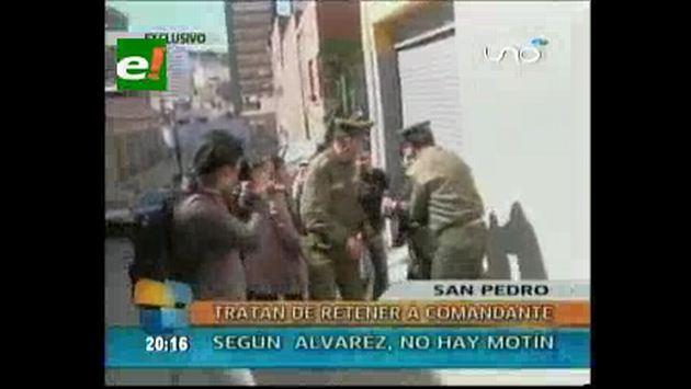 Alto mando policial negó amotinamiento. (Eju.tv)
