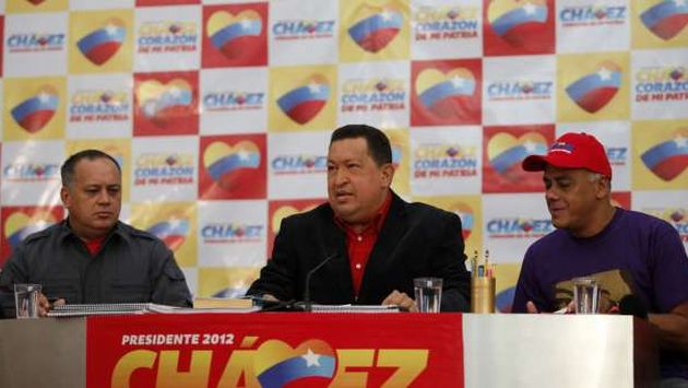 Hugo Chvez ofreci una conferencia de prensa y explic temas de su campaa. (AVN)