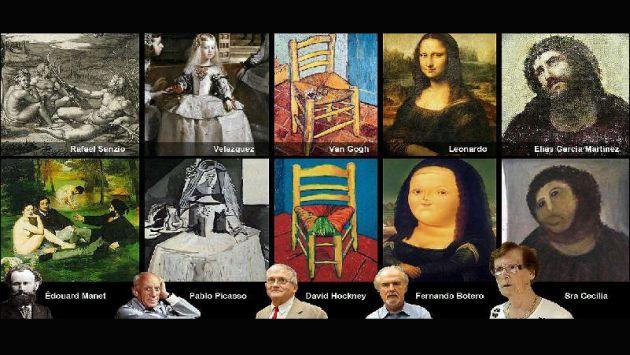 El tuitero @suarezgallego defiende a Giménez comparando su 'obra' con la de otros pintores. (Twitter)