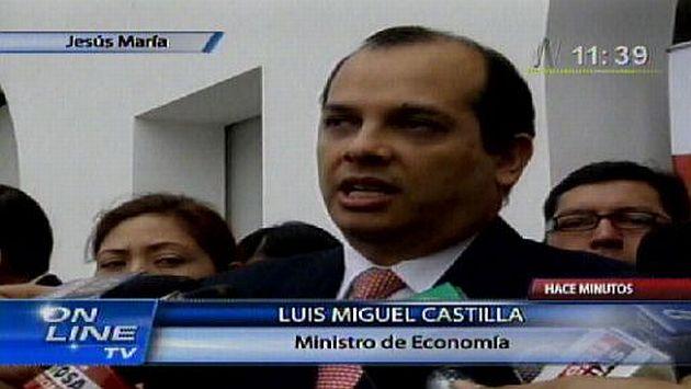 El ministro declaró tras un evento público. (Canal N)