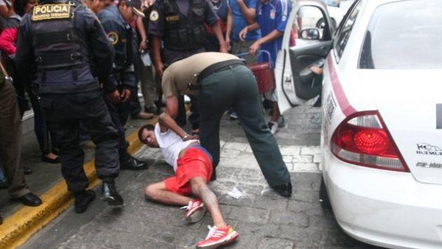 El delincuente fue llevado a la comisaría de la zona. (Oscar Sánchez/RPP)