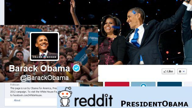 Aquí tres de las cuentas de Obama en medios sociales.