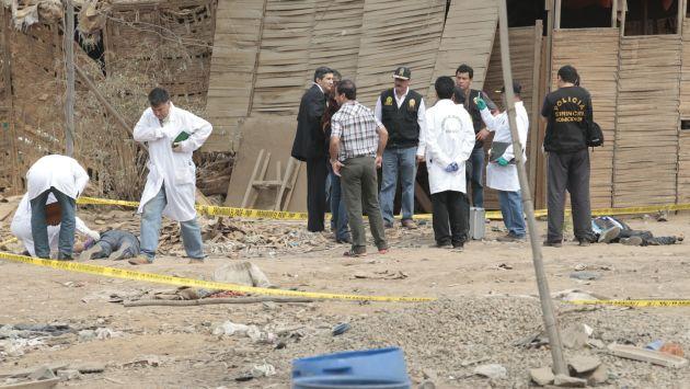 TRISTE FINAL. Los tres policías terminaron abatidos en un descampado en Zapallal. (César Fajardo)