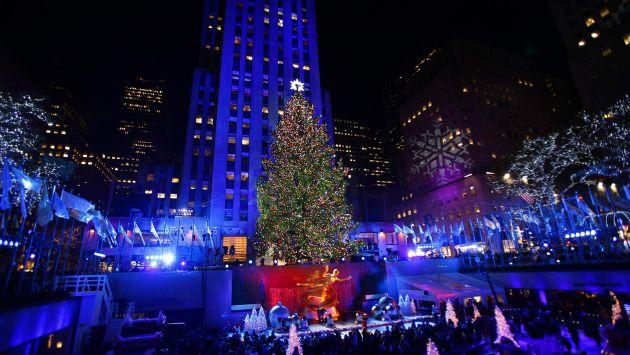 El árbol navideño de Rockefeller Center, en Nuevo York. (Reuters)