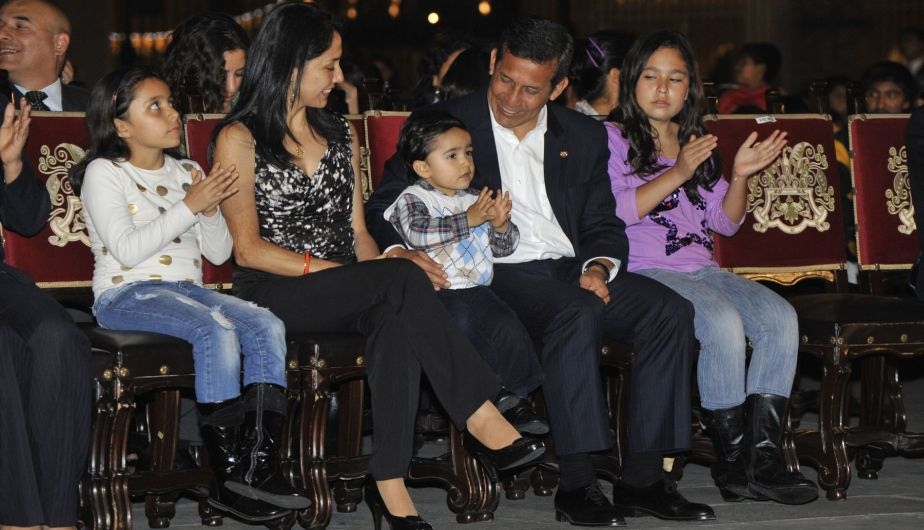 Nadine Heredia, Ollanta Humala, Navidad, Palacio de Gobierno