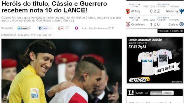 Cássio ganó el Balón de Oro del Mundial de Clubes. (Lance.com)