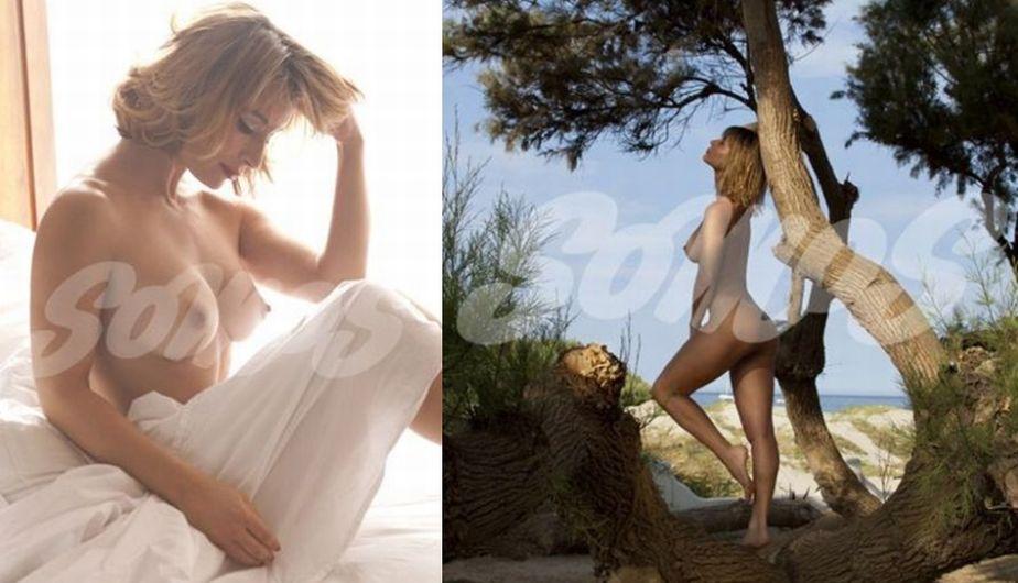 La guapa modelo volvió a posar desnuda en sesión para la revista Somos. (Somos)