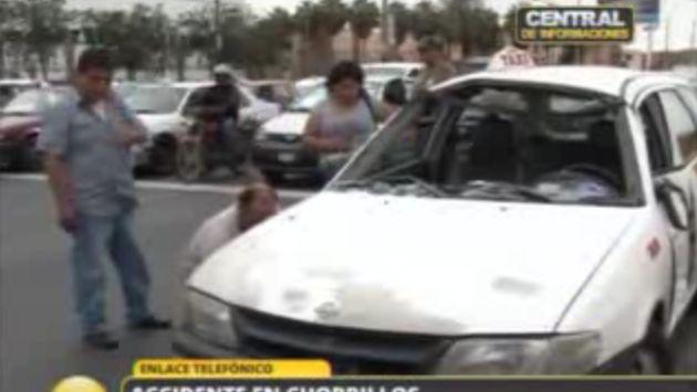 Así quedó el auto de placa TGS-784. (RPP TV)