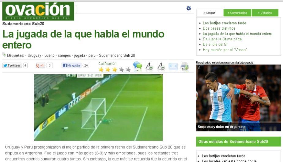 Prensa, Arquero, Portero, Sudamericano Sub 20, Selección Sub 20, Atajada