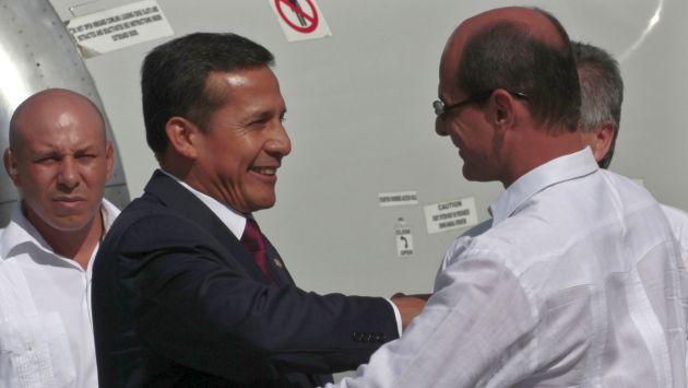 VISITA CLAVE. Presidente Humala cumplirá actividades en Cuba y visitaría a su amigo Chávez. (Rueters)