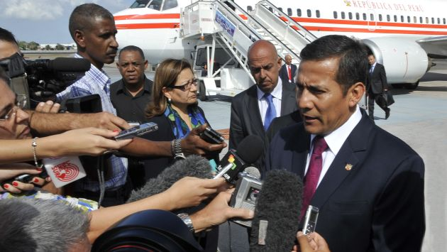 Para mis amigos, todo. Humala cumpli agenda en Cuba y se interes por la salud de Chvez. (Difusin)
