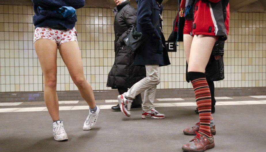 Alemania, No Pants Subway Ride, Viaje sin pantalones en el metro