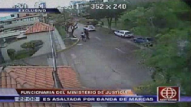 Las cámaras de seguridad registraron el hecho. (Canal 4)