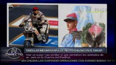Polmica por indumentaria de un piloto chileno durante el Dakar