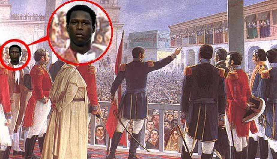 Max Barrios en la proclamación de la Independencia del Perú