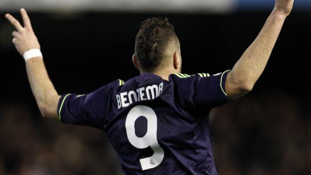 Benzema anotó a los 44'. (AP)